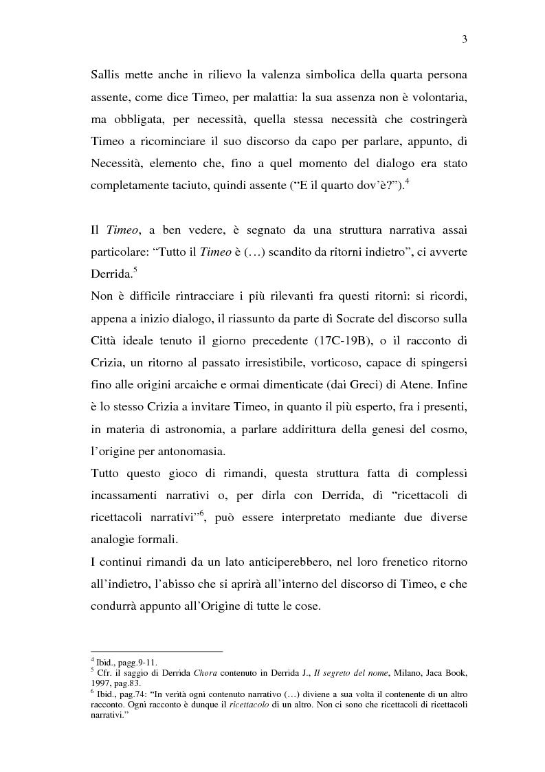Anteprima della tesi: Chora: dal Timeo di Platone all'istanza femminista postmoderna, Pagina 2