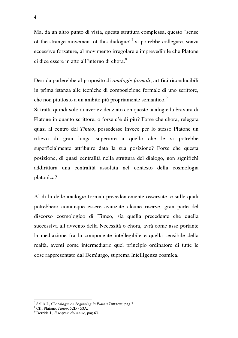 Anteprima della tesi: Chora: dal Timeo di Platone all'istanza femminista postmoderna, Pagina 3