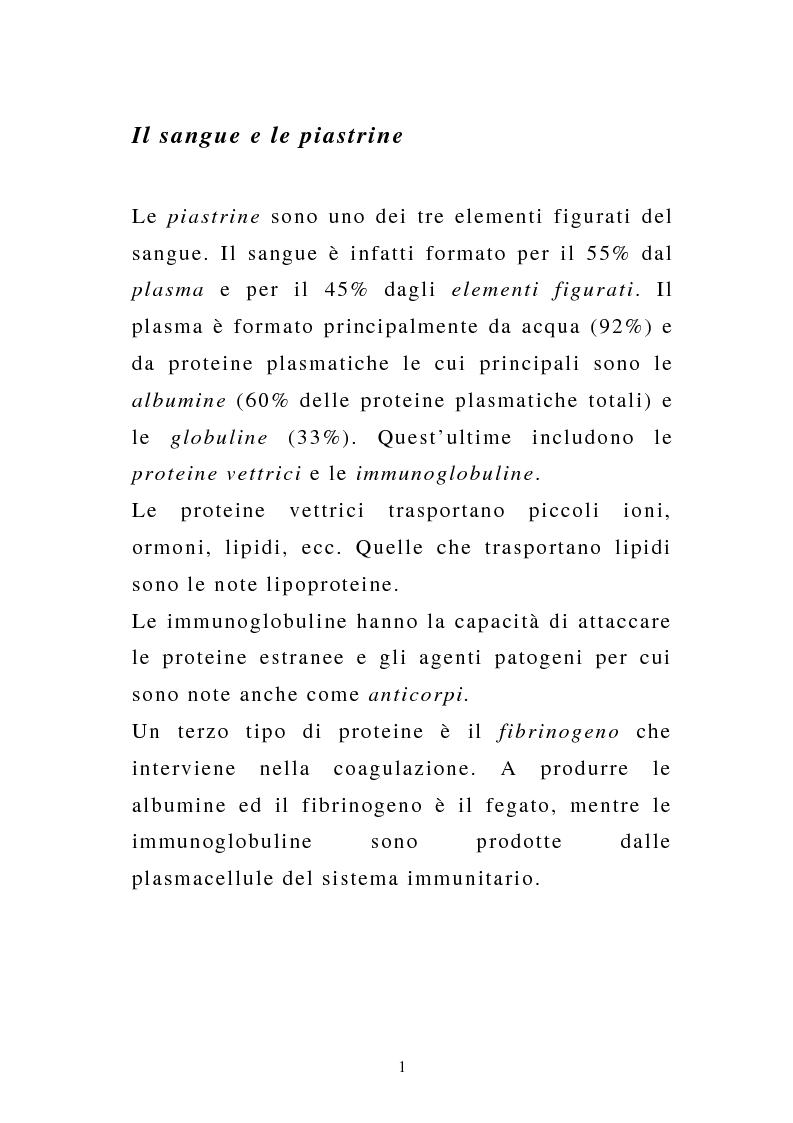Anteprima della tesi: Porpora Trombocitopenica Idiopatica, Pagina 1