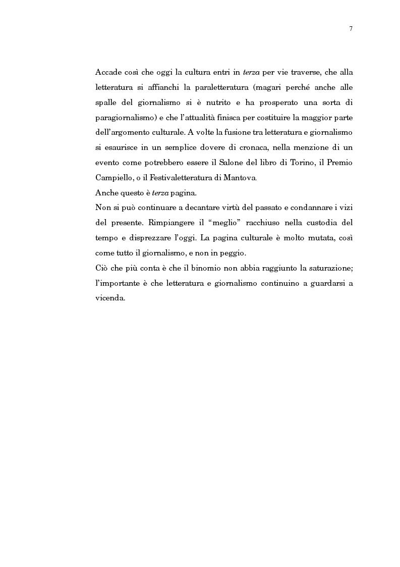 Anteprima della tesi: Giornalismo e letteratura. L'evoluzione della Terza pagina nella storia del Corriere della Sera, Pagina 4