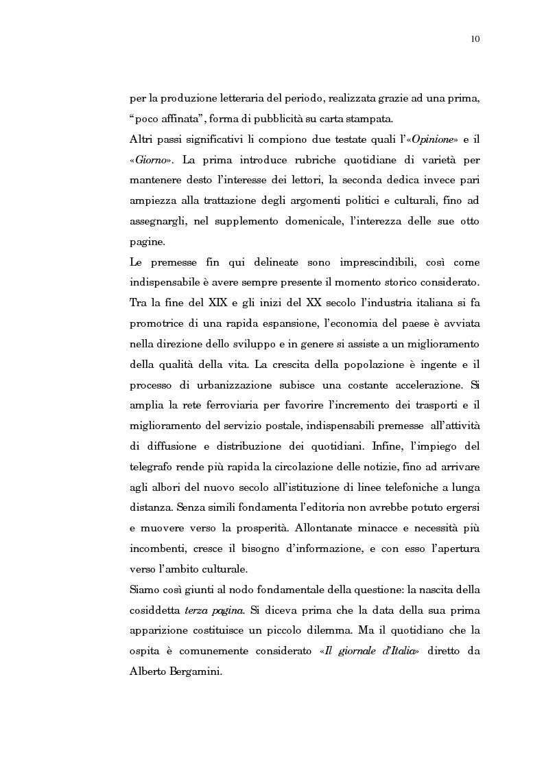 Anteprima della tesi: Giornalismo e letteratura. L'evoluzione della Terza pagina nella storia del Corriere della Sera, Pagina 7