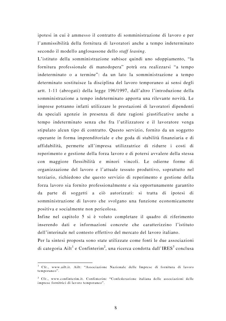 Anteprima della tesi: Il lavoro interinale, Pagina 4