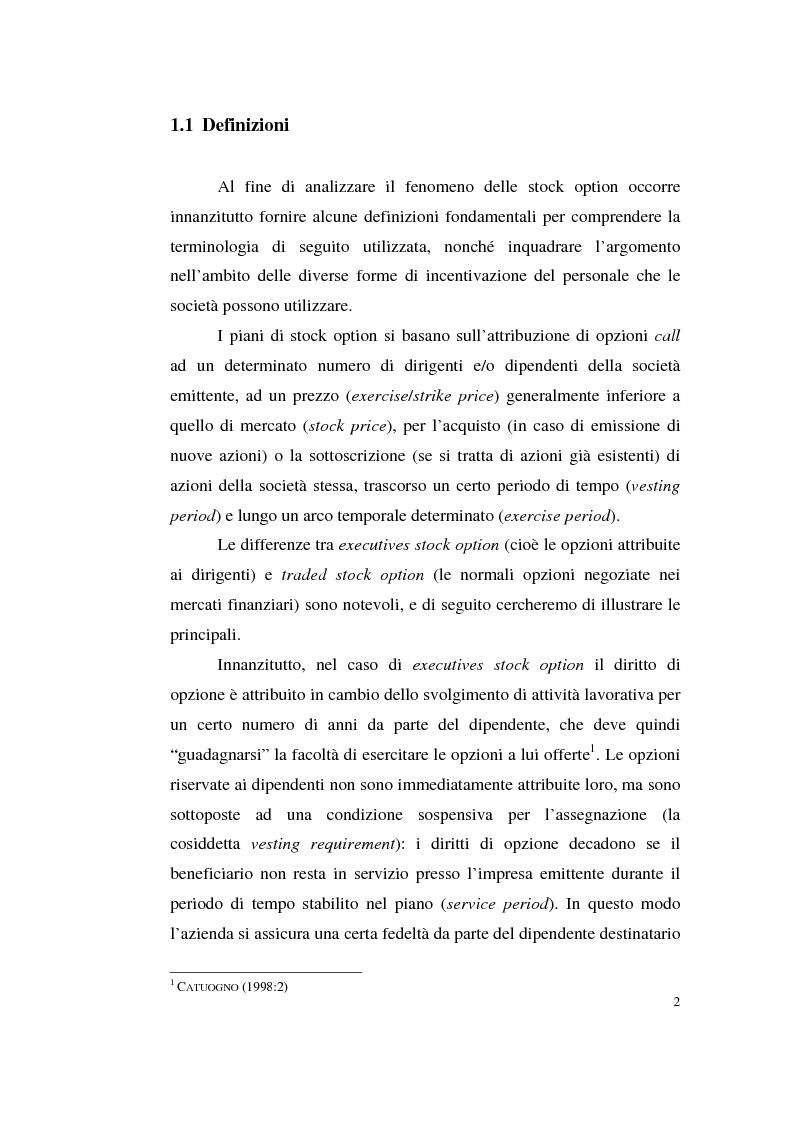 Anteprima della tesi: La contabilizzazione delle stock options, Pagina 11