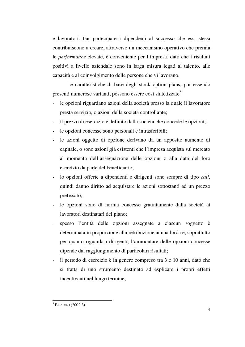 Anteprima della tesi: La contabilizzazione delle stock options, Pagina 13