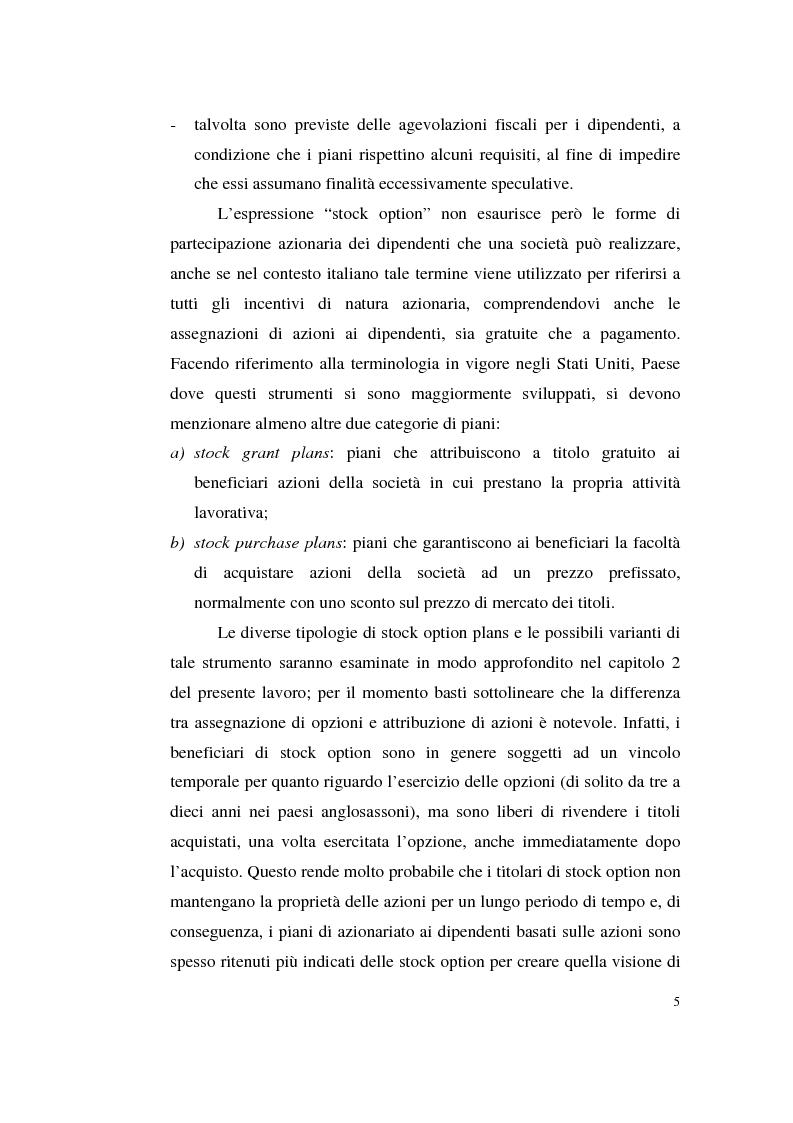 Anteprima della tesi: La contabilizzazione delle stock options, Pagina 14