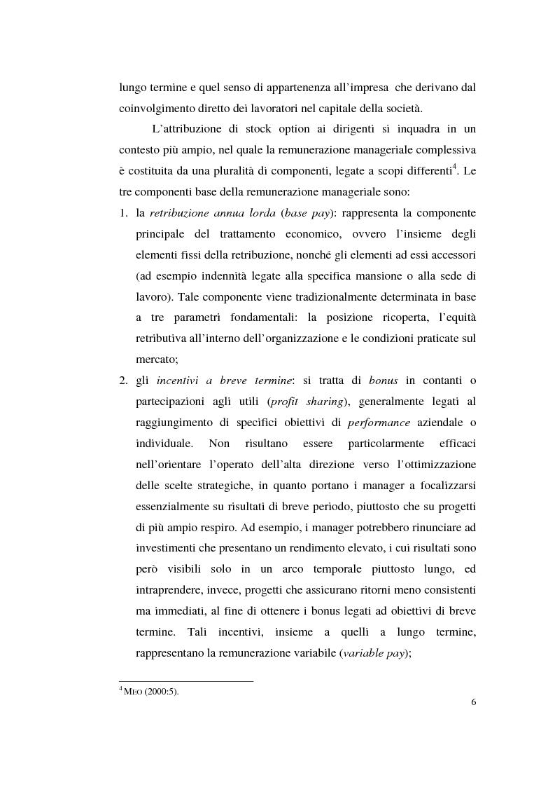 Anteprima della tesi: La contabilizzazione delle stock options, Pagina 15
