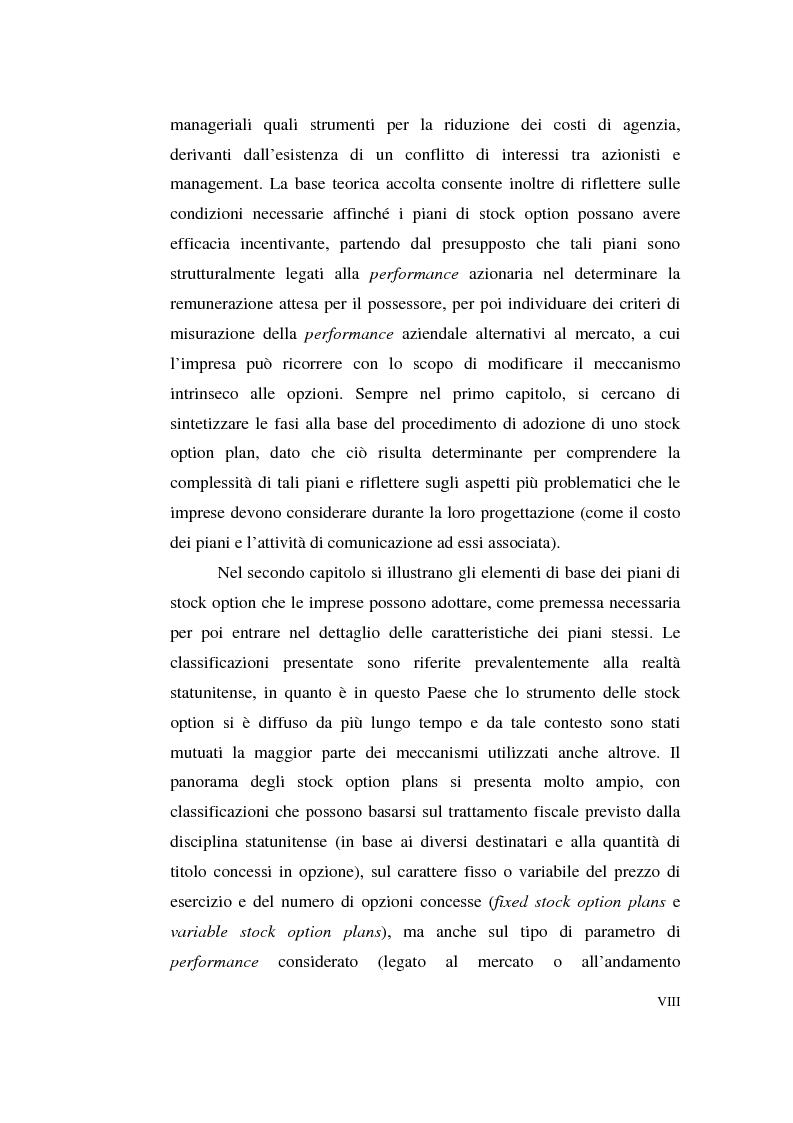 Anteprima della tesi: La contabilizzazione delle stock options, Pagina 4
