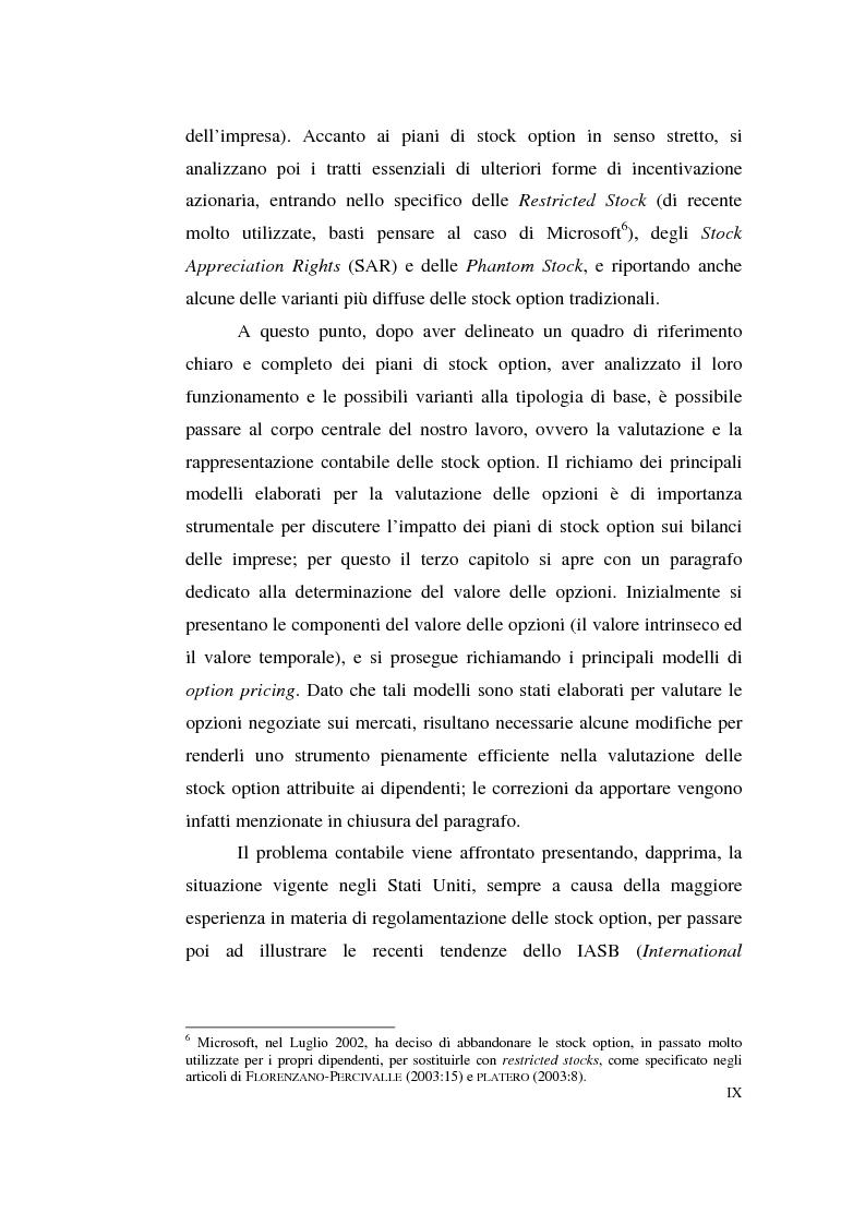 Anteprima della tesi: La contabilizzazione delle stock options, Pagina 5