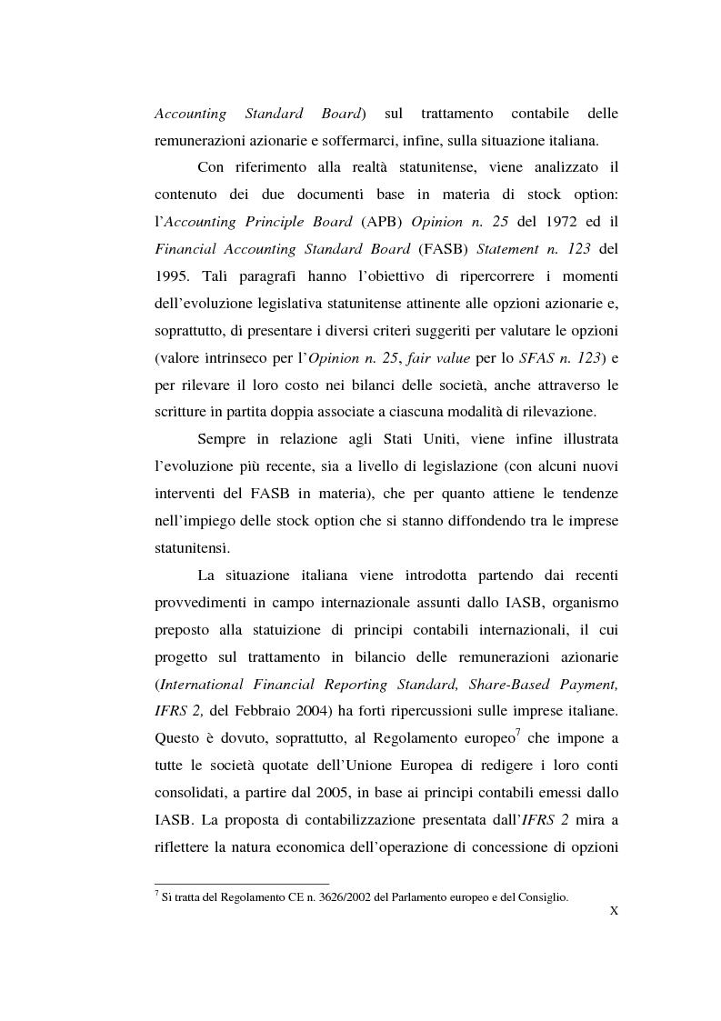 Anteprima della tesi: La contabilizzazione delle stock options, Pagina 6