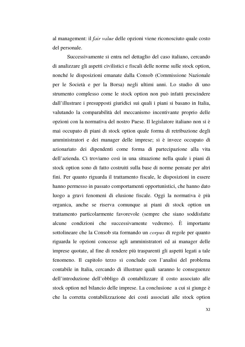 Anteprima della tesi: La contabilizzazione delle stock options, Pagina 7