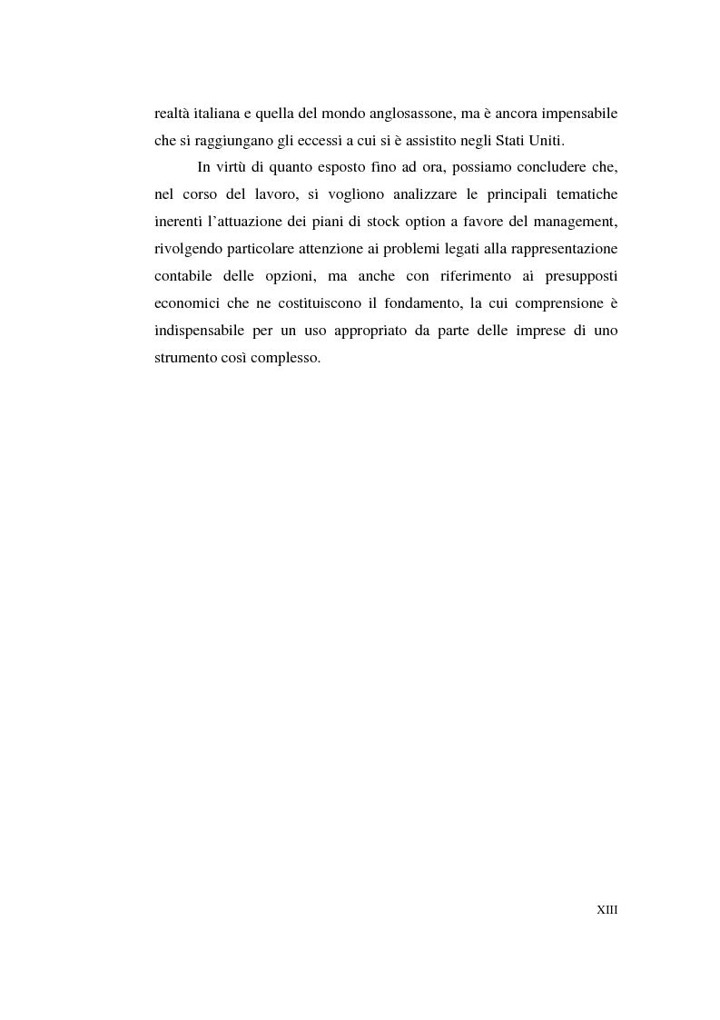 Anteprima della tesi: La contabilizzazione delle stock options, Pagina 9