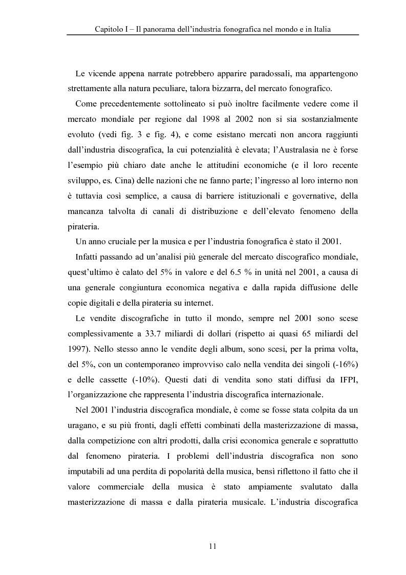 Anteprima della tesi: La crisi dell'industria discografica a seguito della pirateria e dell'effetto ''Napster'', il caso EMI, Pagina 11