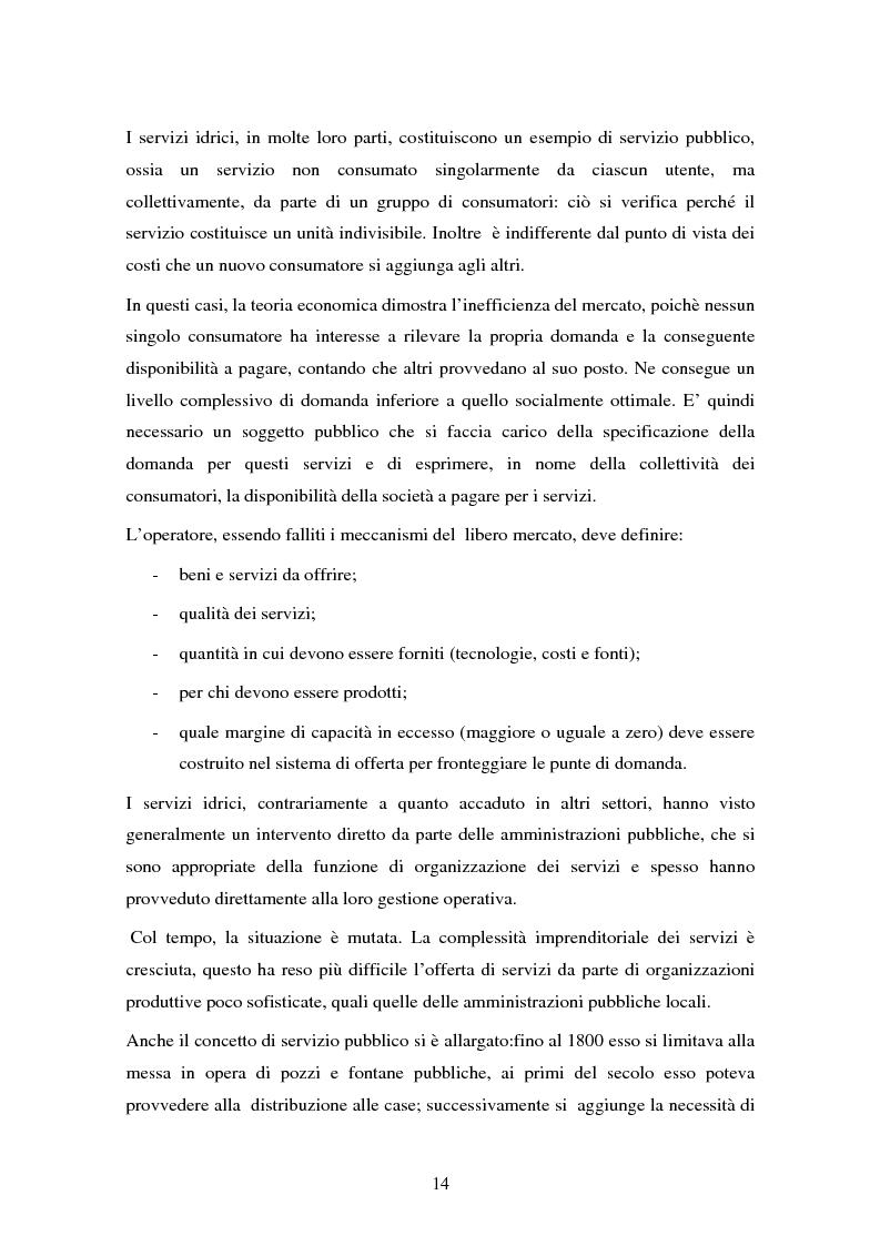 Anteprima della tesi: La gestione dell'acqua e i fallimenti della privatizzazione idrica in alcuni PVS, Pagina 11