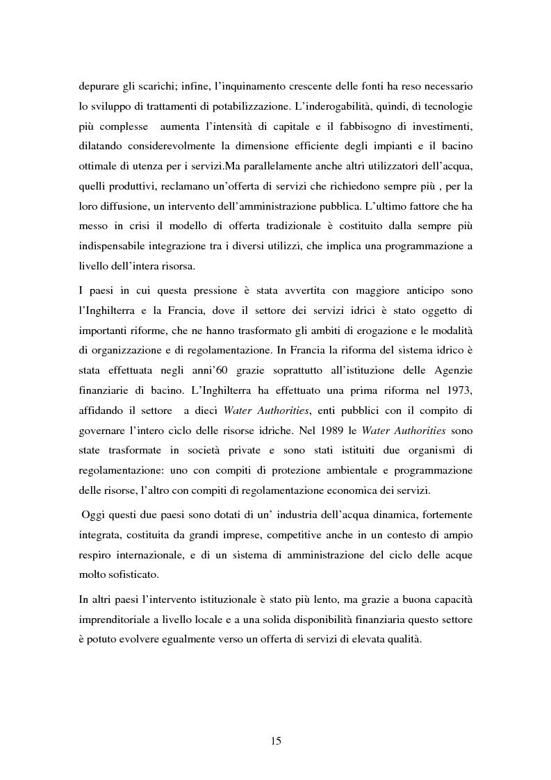 Anteprima della tesi: La gestione dell'acqua e i fallimenti della privatizzazione idrica in alcuni PVS, Pagina 12