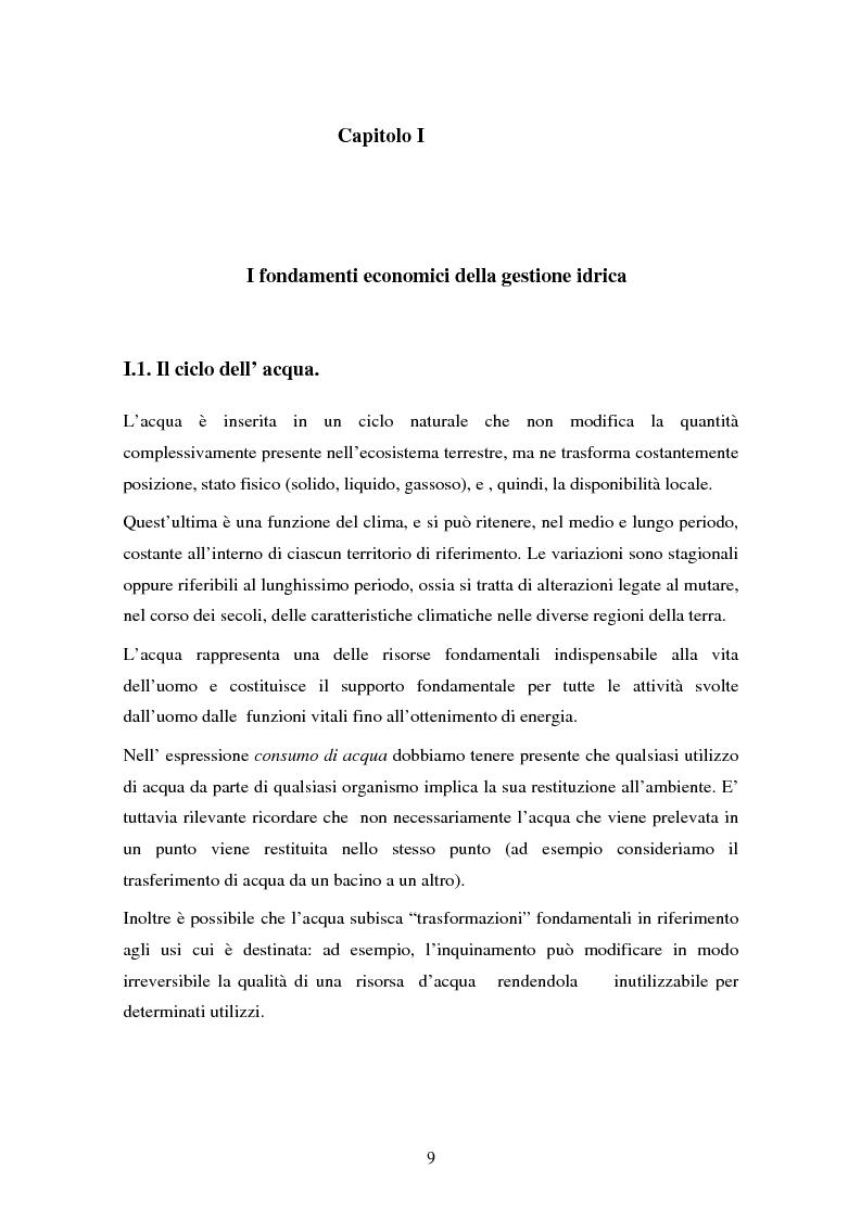 Anteprima della tesi: La gestione dell'acqua e i fallimenti della privatizzazione idrica in alcuni PVS, Pagina 6