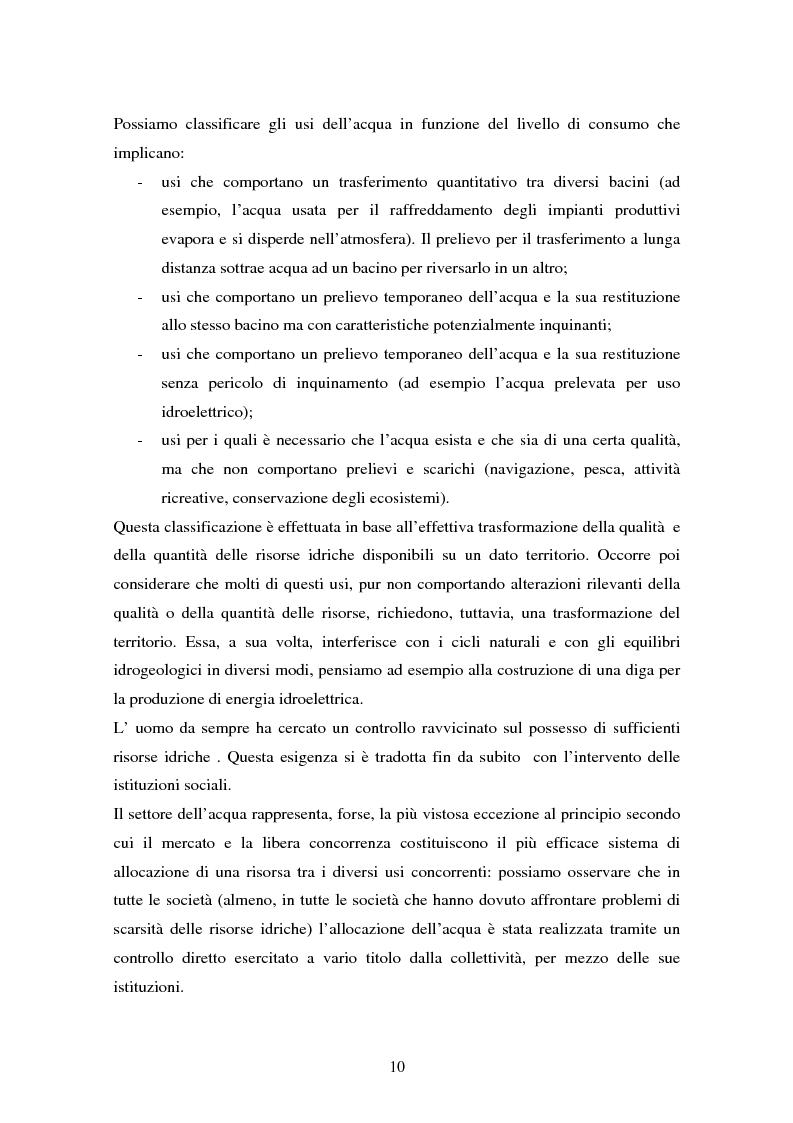 Anteprima della tesi: La gestione dell'acqua e i fallimenti della privatizzazione idrica in alcuni PVS, Pagina 7