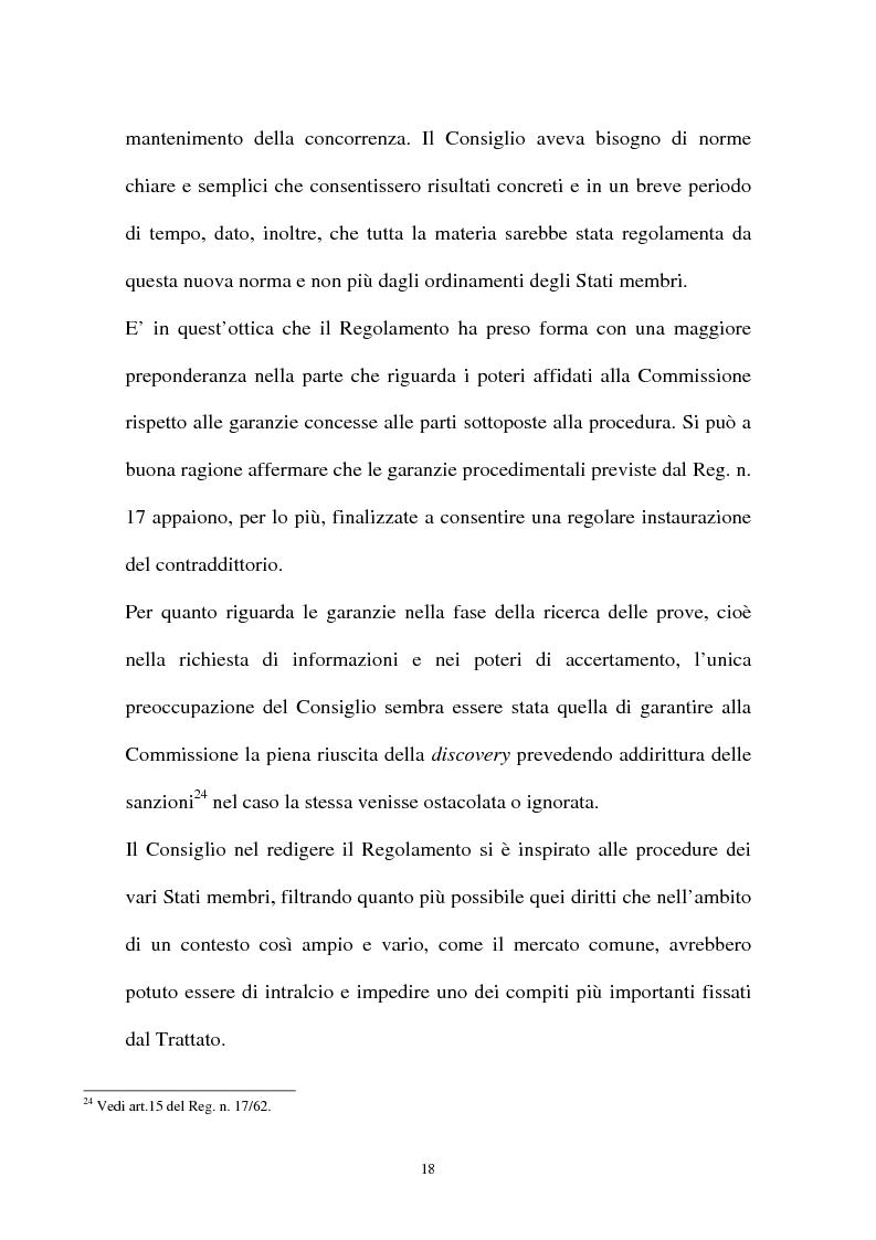 Anteprima della tesi: I diritti della difesa nei procedimenti antitrust, Pagina 15