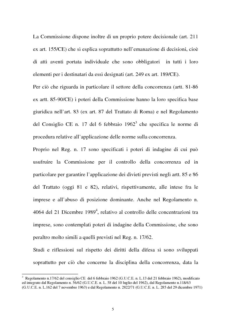 Anteprima della tesi: I diritti della difesa nei procedimenti antitrust, Pagina 2