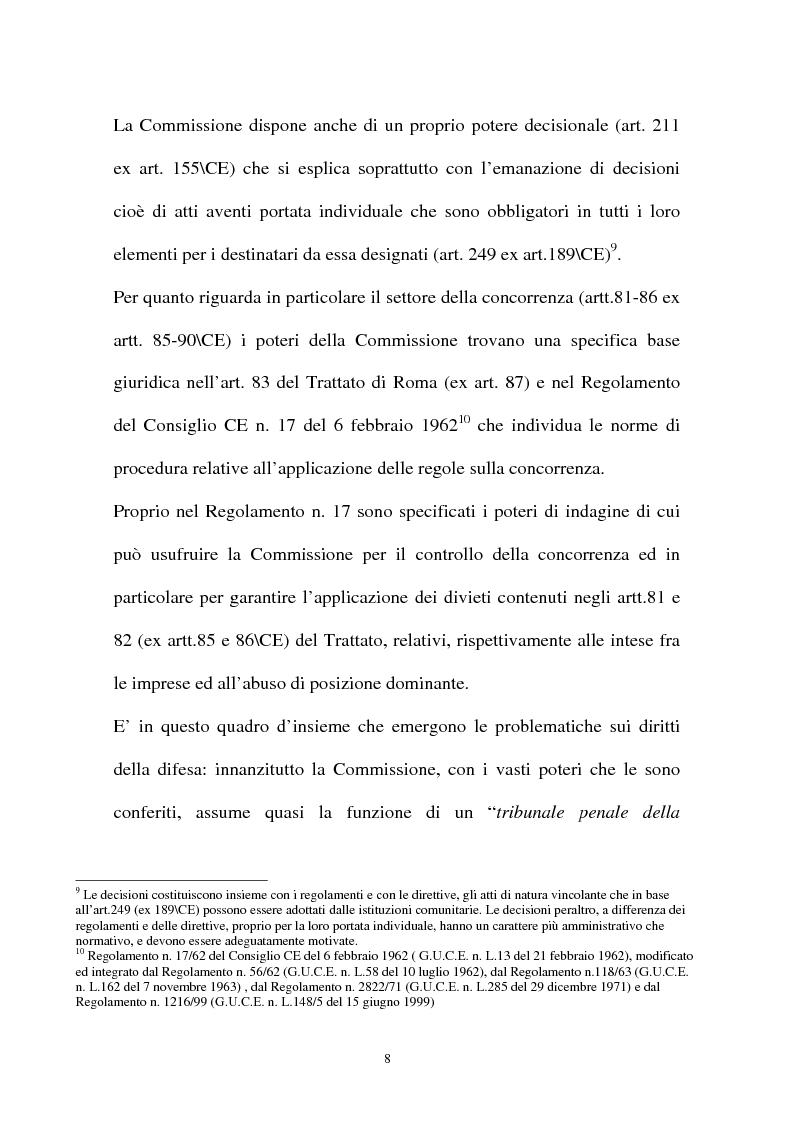 Anteprima della tesi: I diritti della difesa nei procedimenti antitrust, Pagina 5