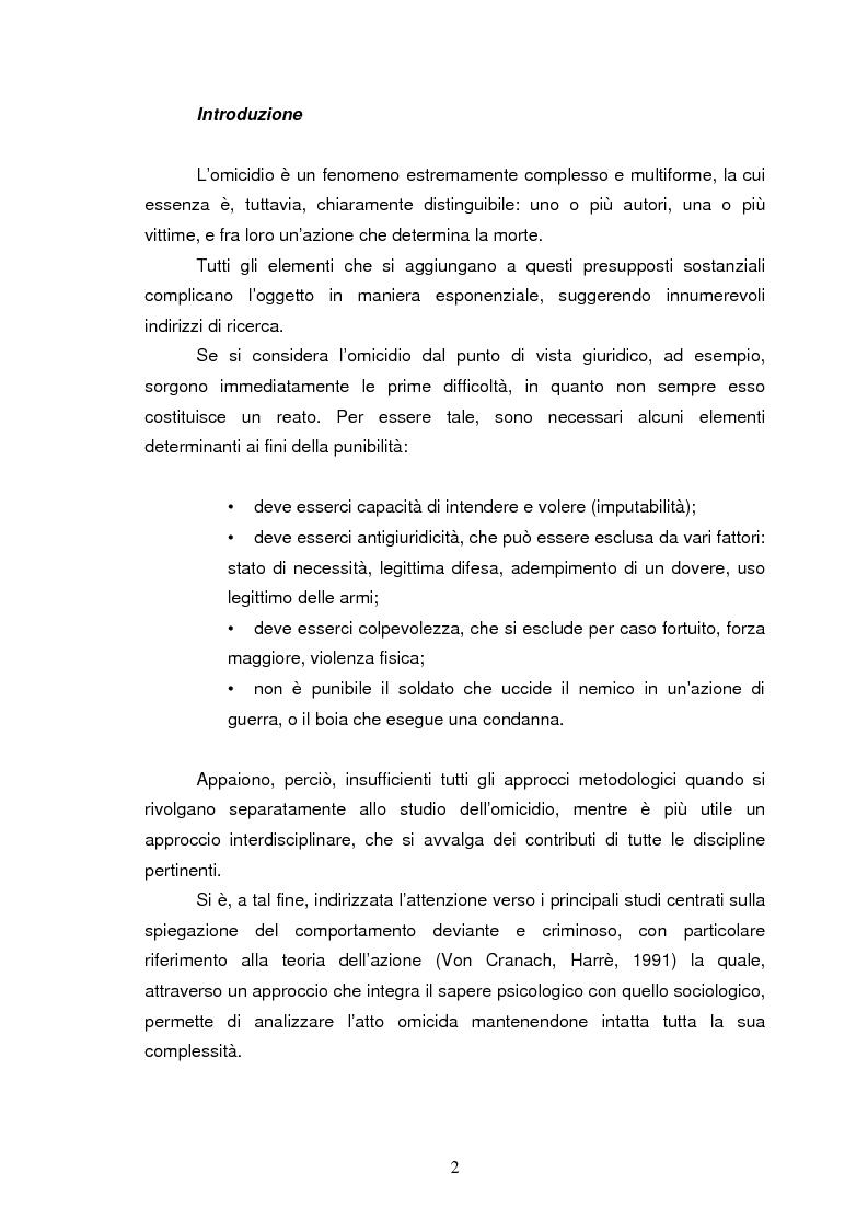 Anteprima della tesi: Trattamento e reinserimento sociale dell'omicida, Pagina 1
