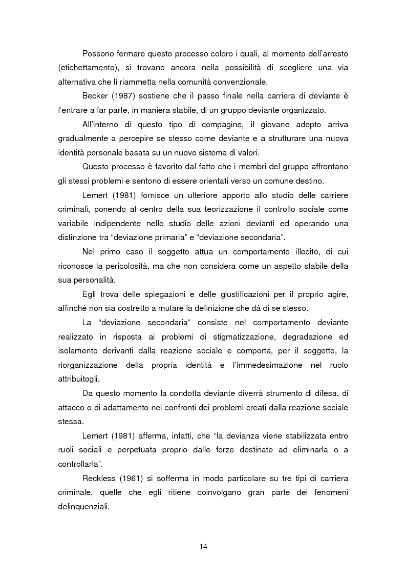 Anteprima della tesi: Trattamento e reinserimento sociale dell'omicida, Pagina 13