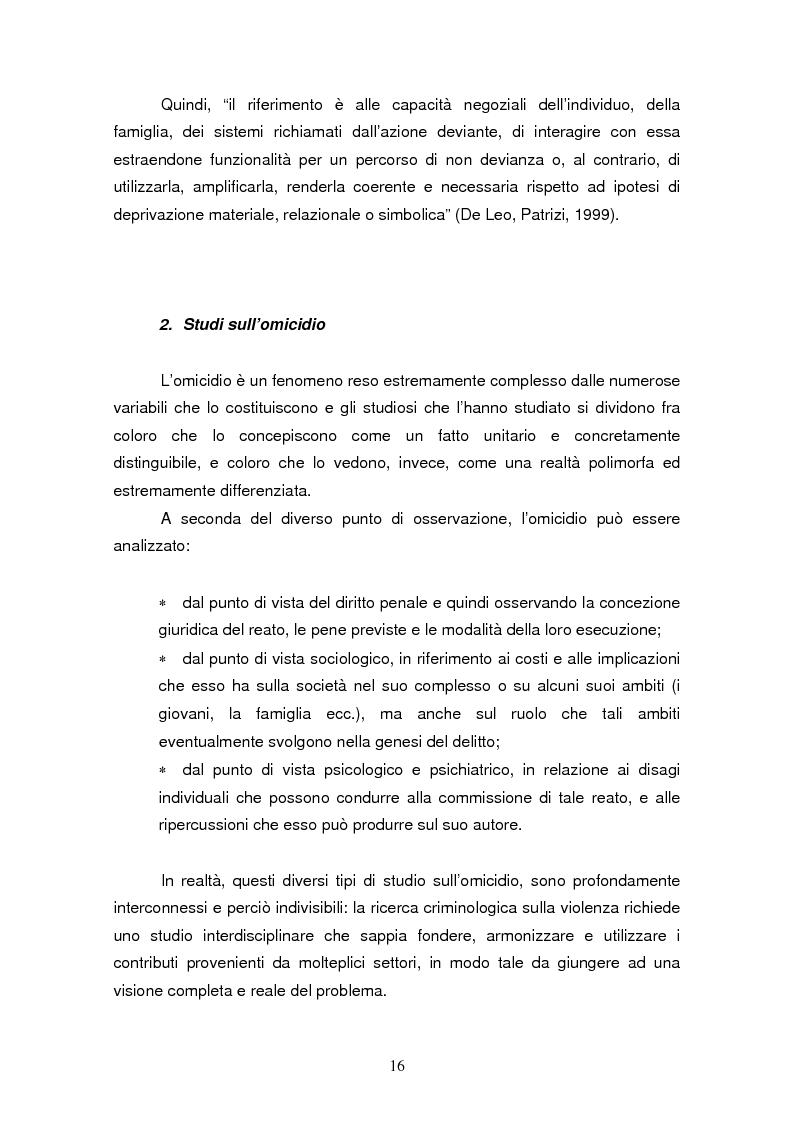 Anteprima della tesi: Trattamento e reinserimento sociale dell'omicida, Pagina 15