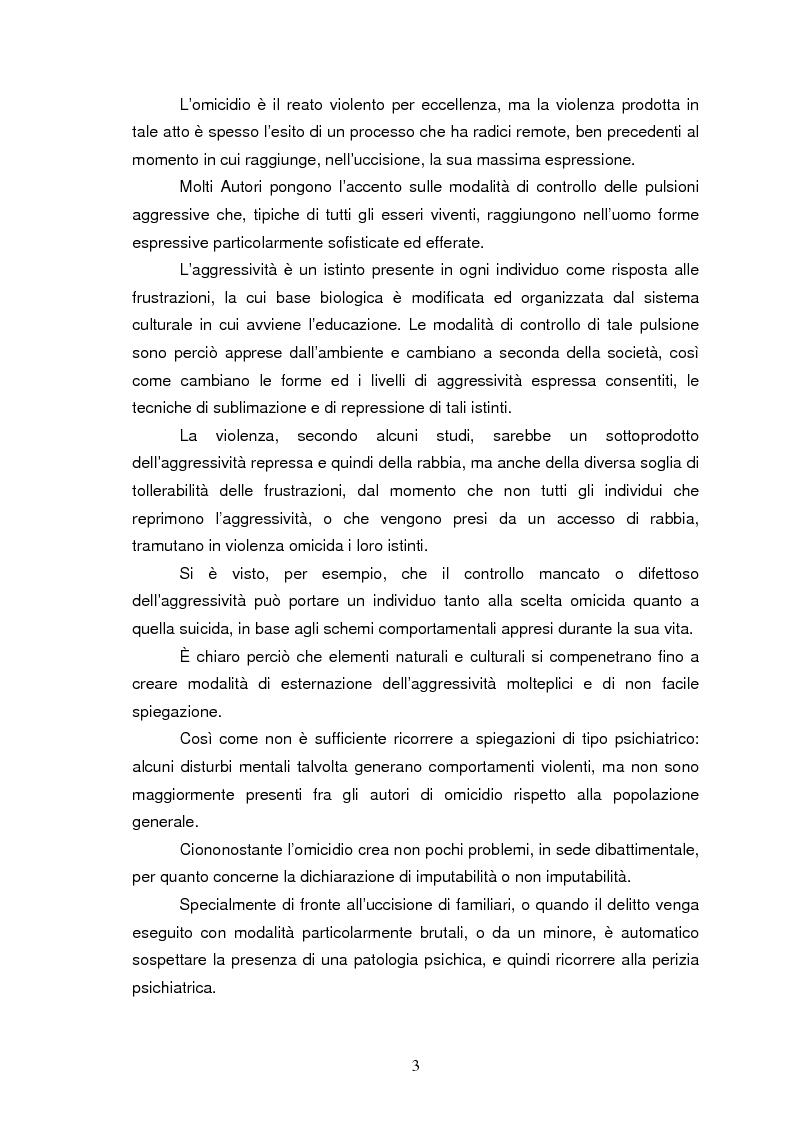 Anteprima della tesi: Trattamento e reinserimento sociale dell'omicida, Pagina 2