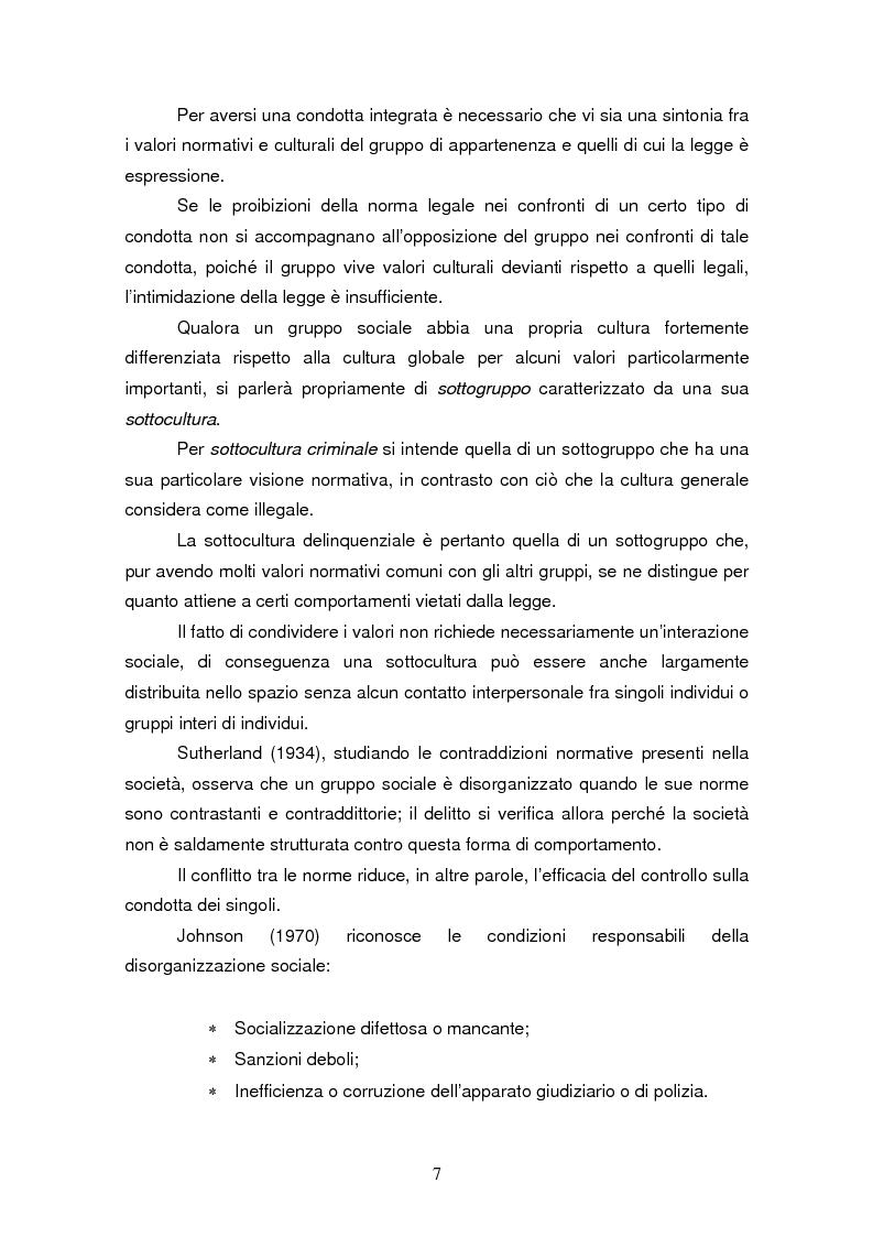 Anteprima della tesi: Trattamento e reinserimento sociale dell'omicida, Pagina 6