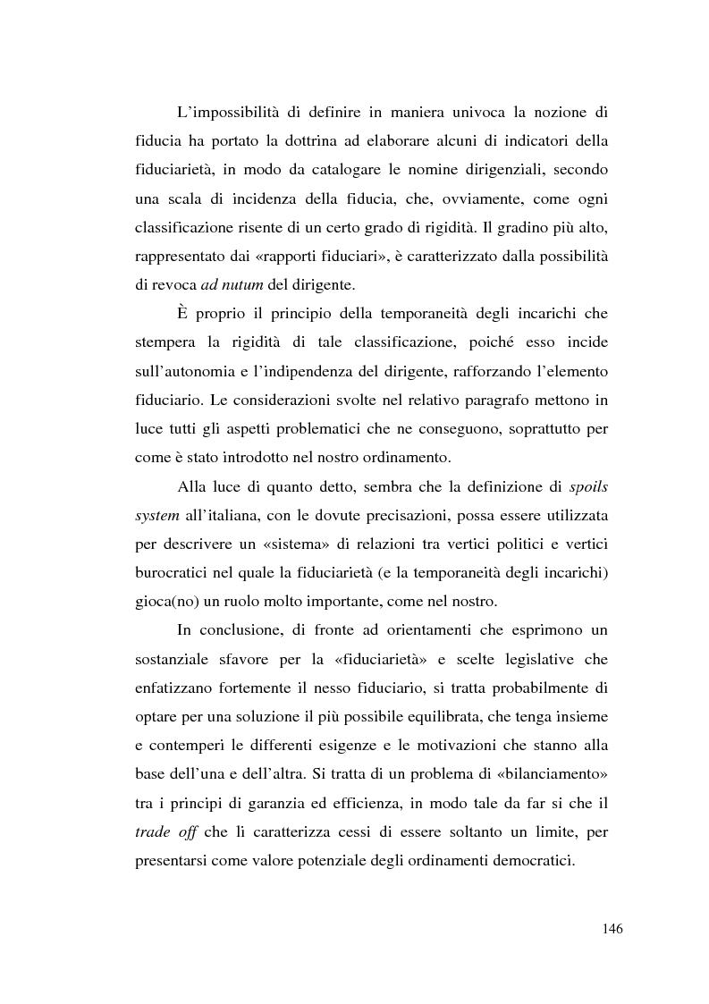 Anteprima della tesi: Dirigenza e spoils system, Pagina 10