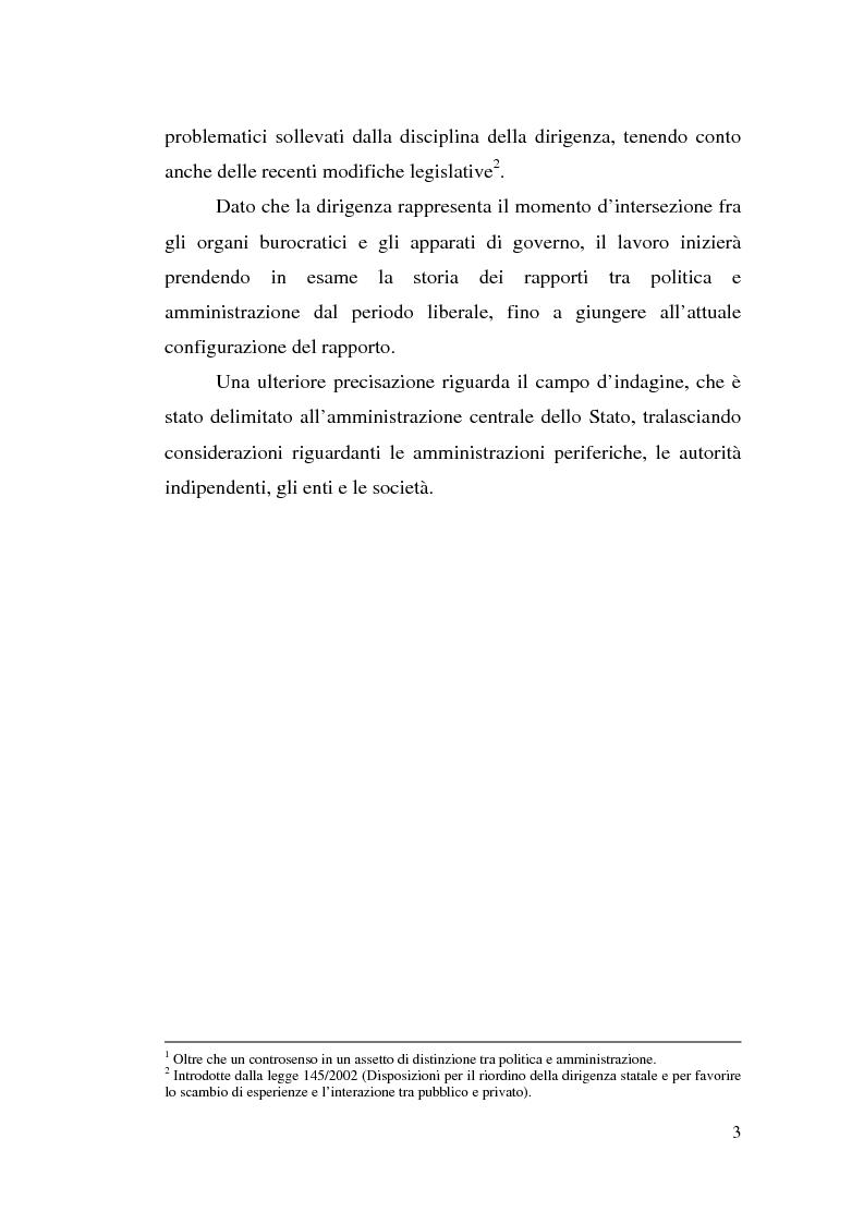 Anteprima della tesi: Dirigenza e spoils system, Pagina 3