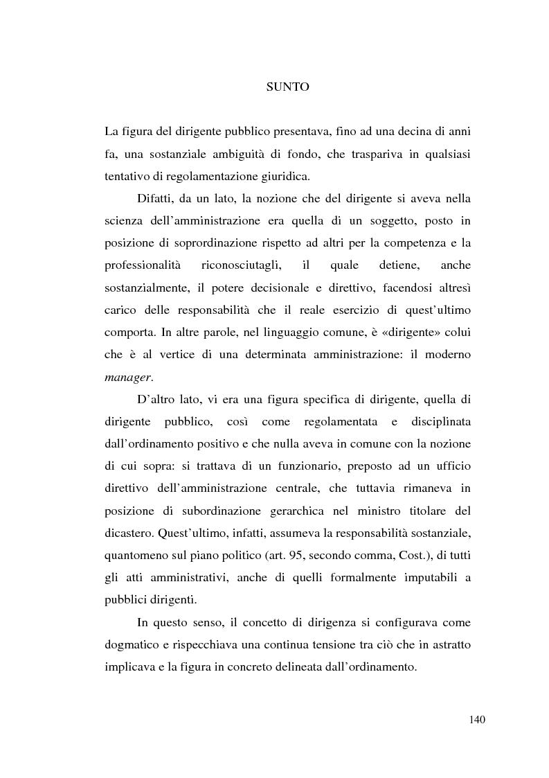 Anteprima della tesi: Dirigenza e spoils system, Pagina 4