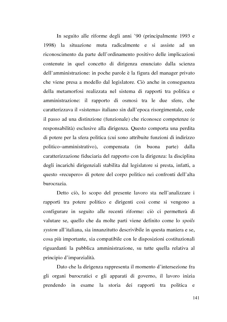 Anteprima della tesi: Dirigenza e spoils system, Pagina 5