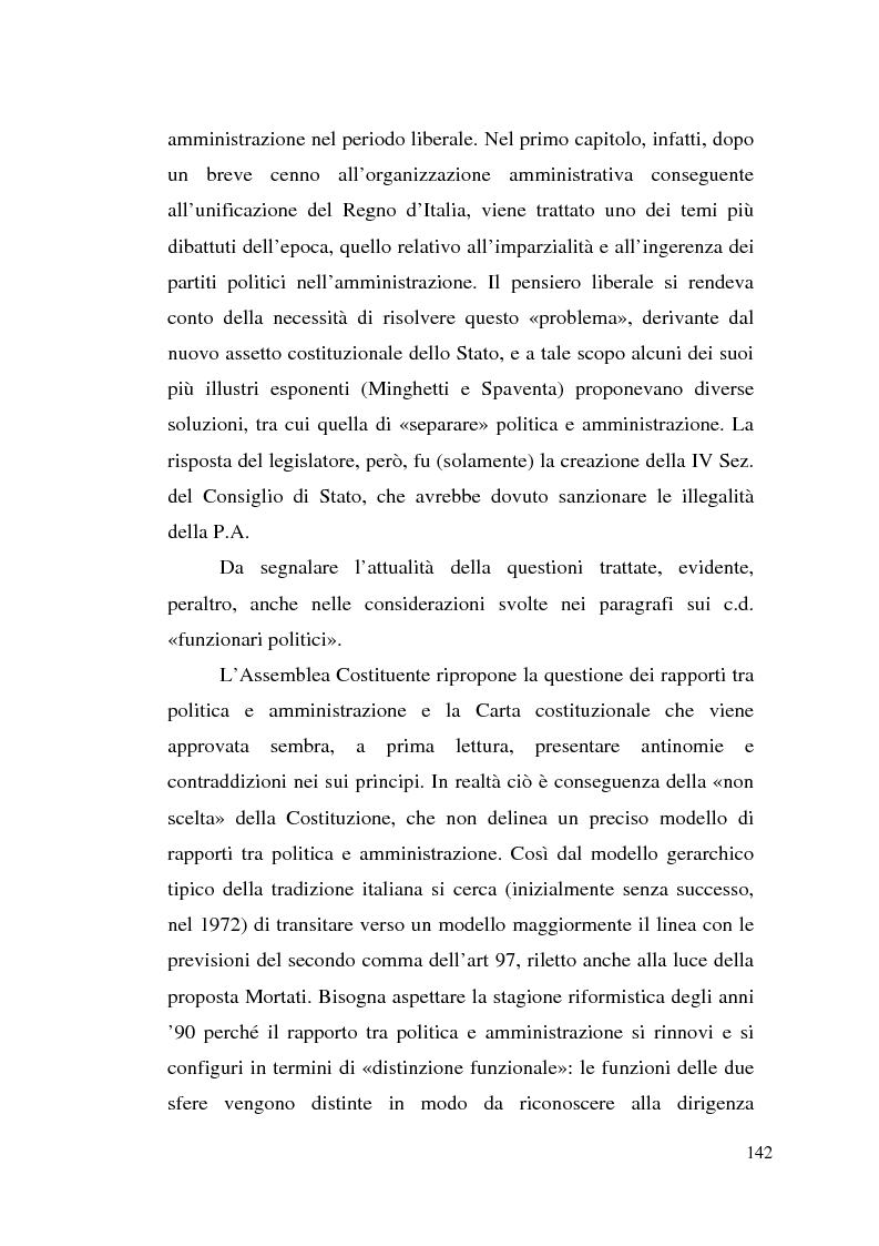 Anteprima della tesi: Dirigenza e spoils system, Pagina 6