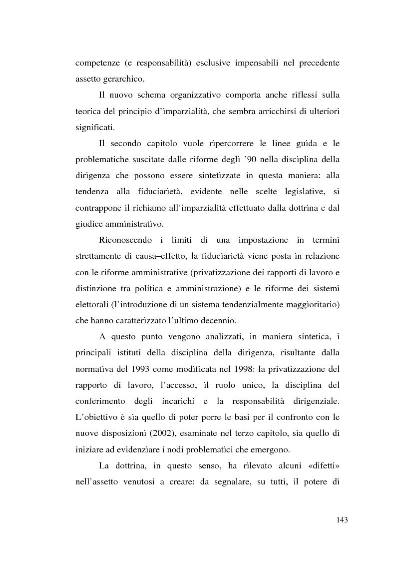 Anteprima della tesi: Dirigenza e spoils system, Pagina 7