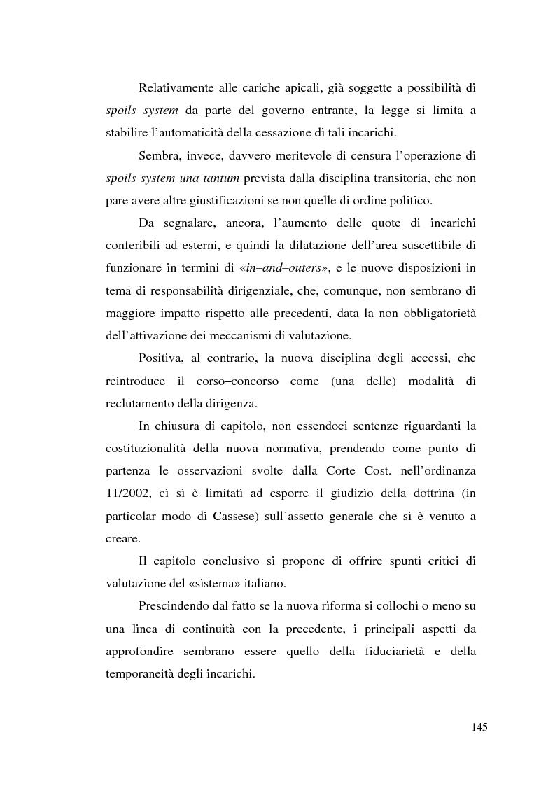 Anteprima della tesi: Dirigenza e spoils system, Pagina 9