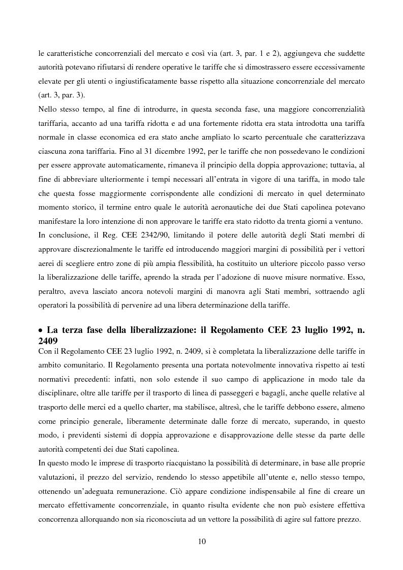 Anteprima della tesi: La competizione nel settore del trasporto aereo di passeggeri: strategie a confronto, Pagina 10