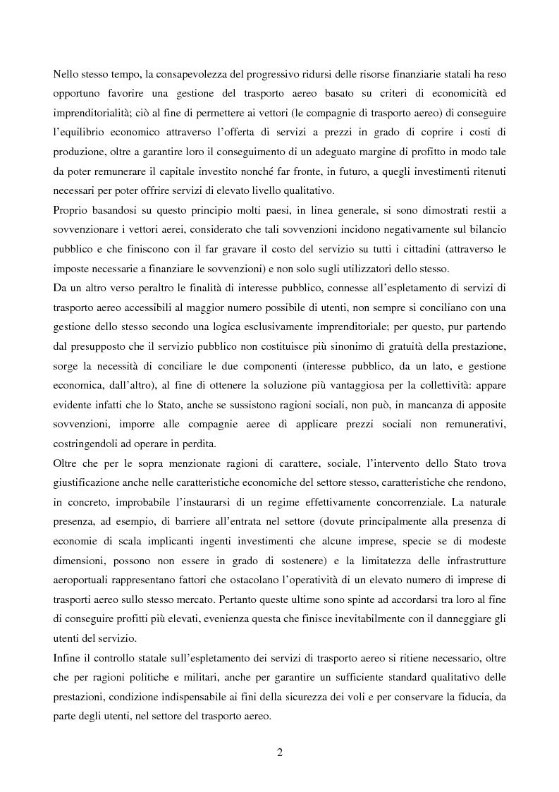 Anteprima della tesi: La competizione nel settore del trasporto aereo di passeggeri: strategie a confronto, Pagina 2