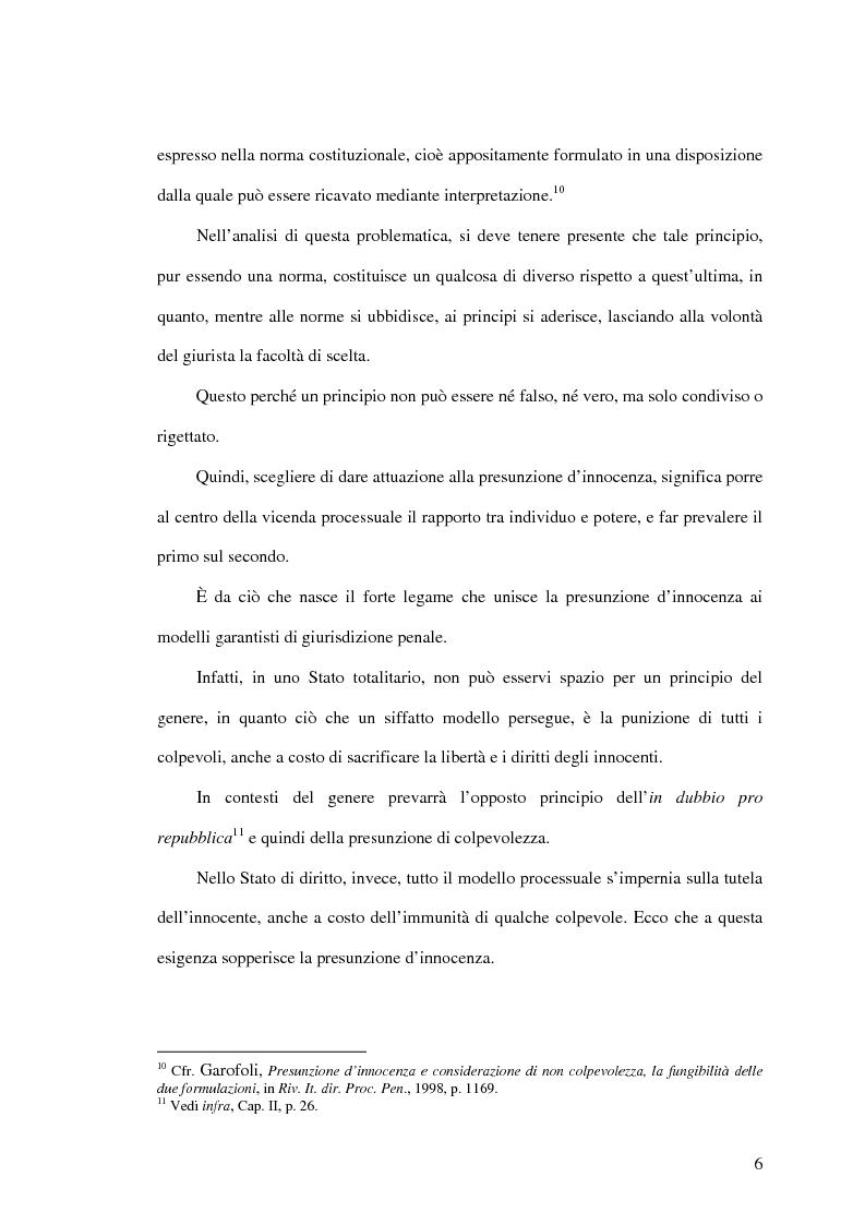 Anteprima della tesi: La presunzione di non colpevolezza, Pagina 11