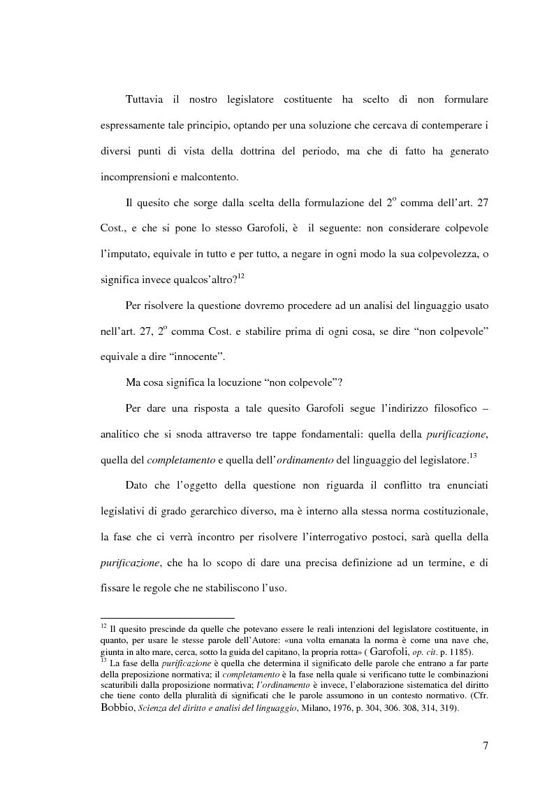 Anteprima della tesi: La presunzione di non colpevolezza, Pagina 12
