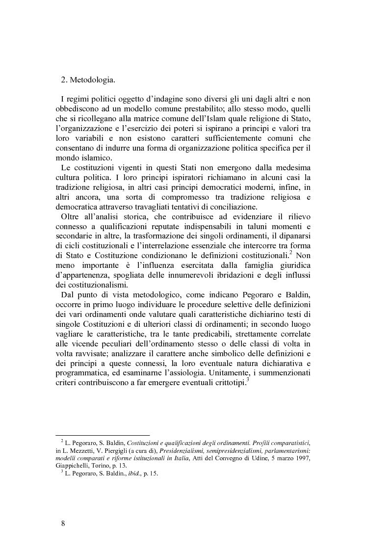 Anteprima della tesi: Costituzioni e costituzionalismo nel mondo islamico, Pagina 2