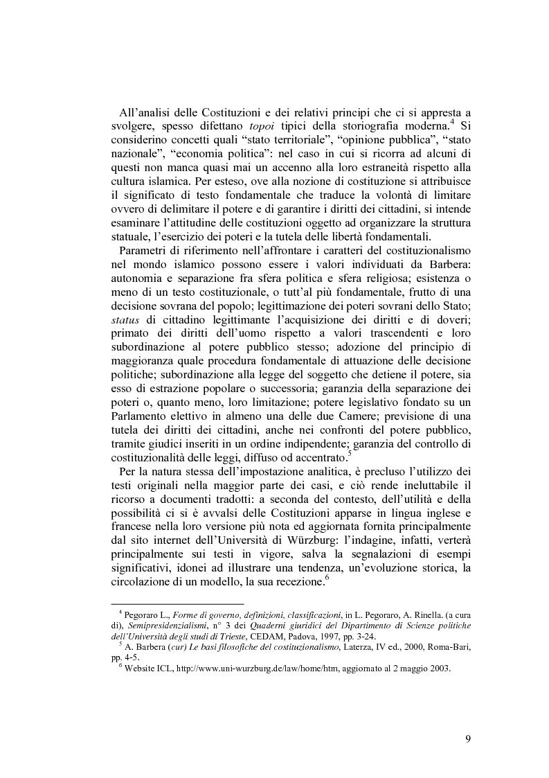 Anteprima della tesi: Costituzioni e costituzionalismo nel mondo islamico, Pagina 3
