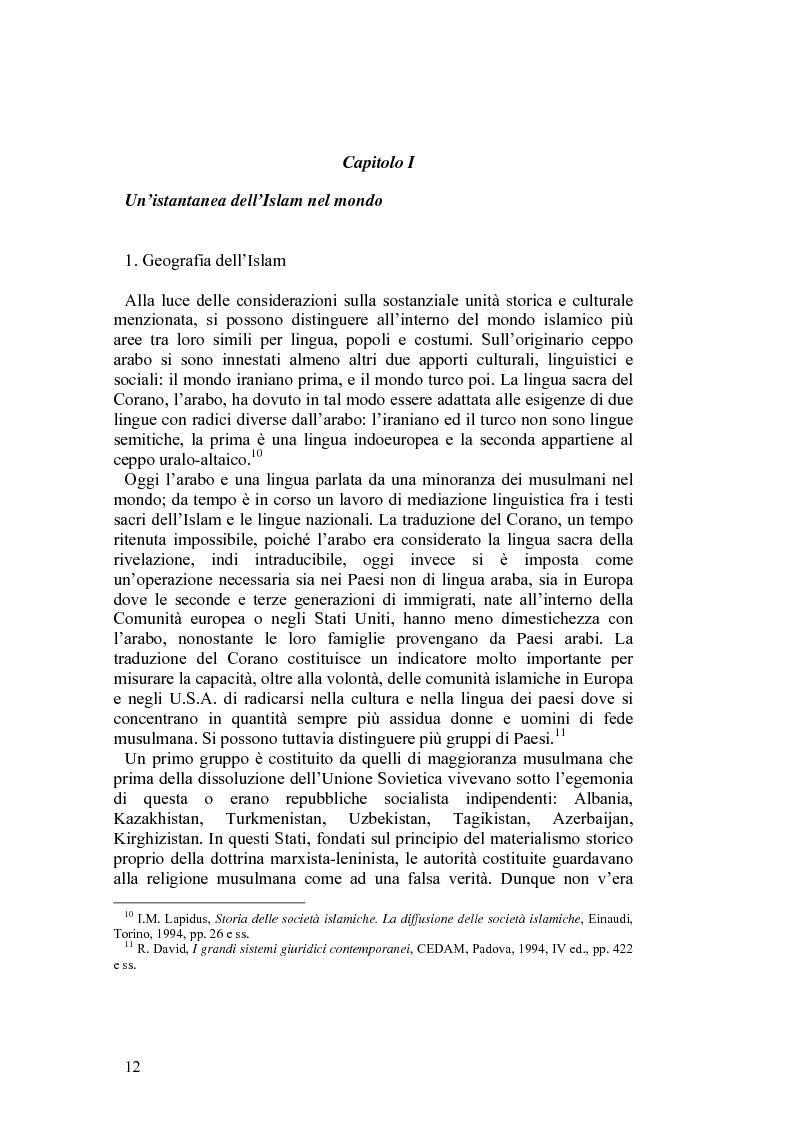 Anteprima della tesi: Costituzioni e costituzionalismo nel mondo islamico, Pagina 6