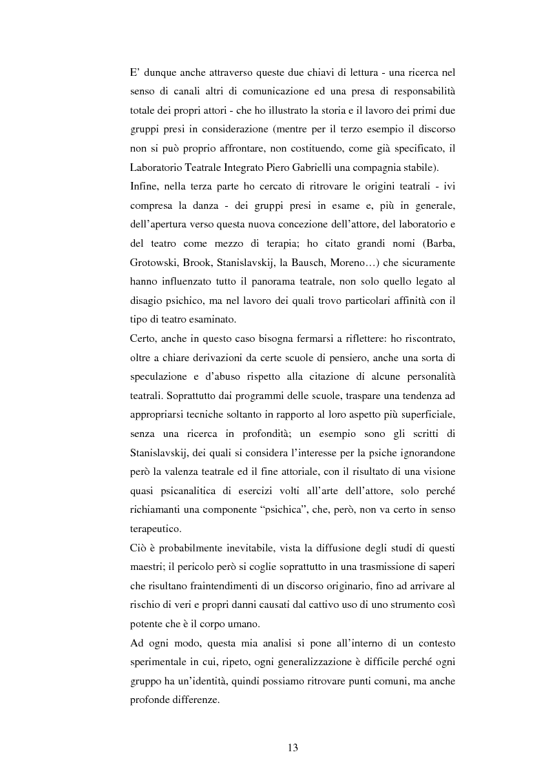 Anteprima della tesi: Teatro e disagio psichico, Pagina 11