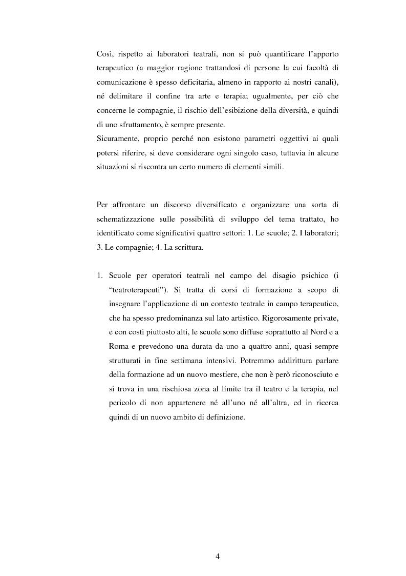 Anteprima della tesi: Teatro e disagio psichico, Pagina 2