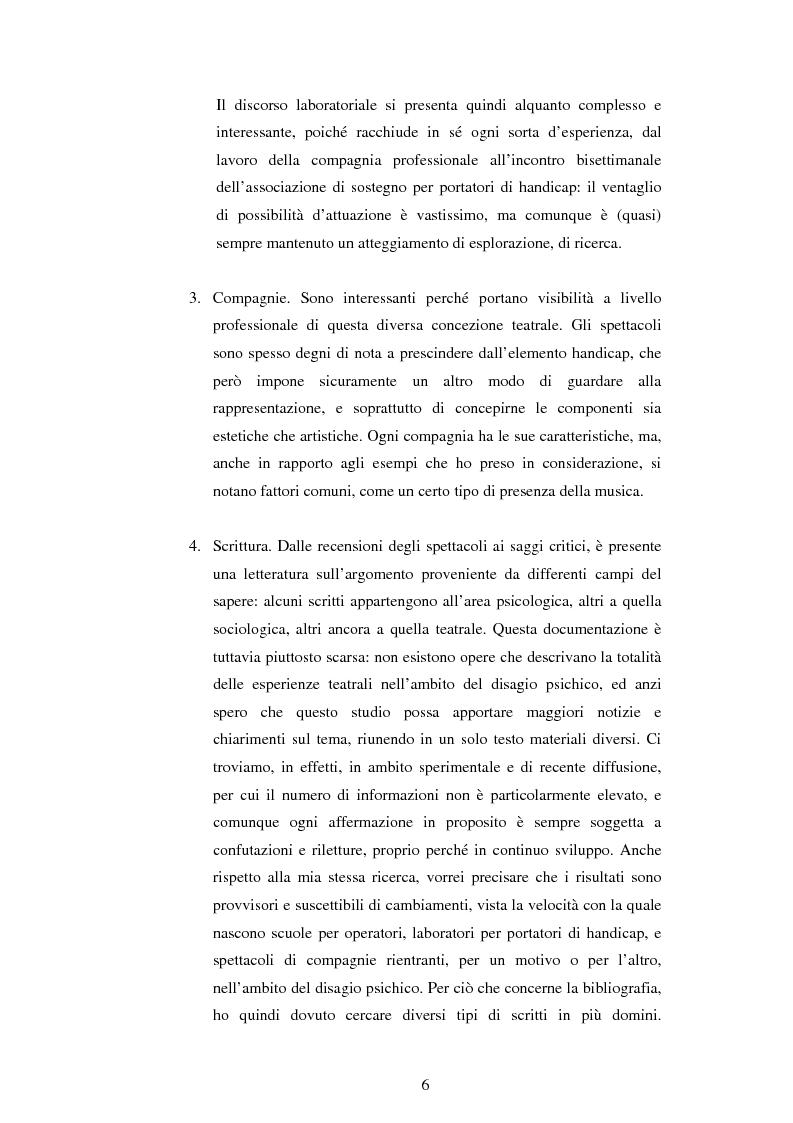 Anteprima della tesi: Teatro e disagio psichico, Pagina 4