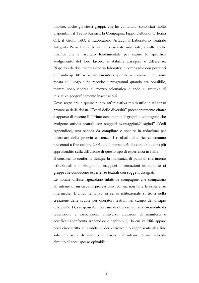 Anteprima della tesi: Teatro e disagio psichico, Pagina 6