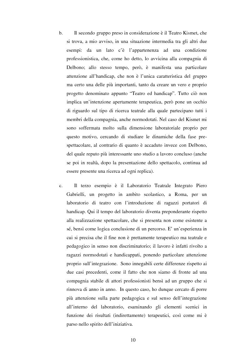 Anteprima della tesi: Teatro e disagio psichico, Pagina 8