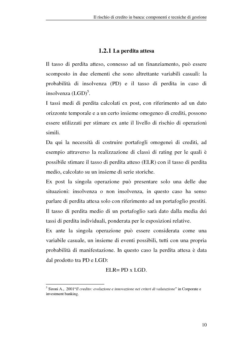 Anteprima della tesi: La gestione del rischio di credito nel Nuovo Accordo sul Capitale. L'impatto su alcuni archetipi finanziari, Pagina 10