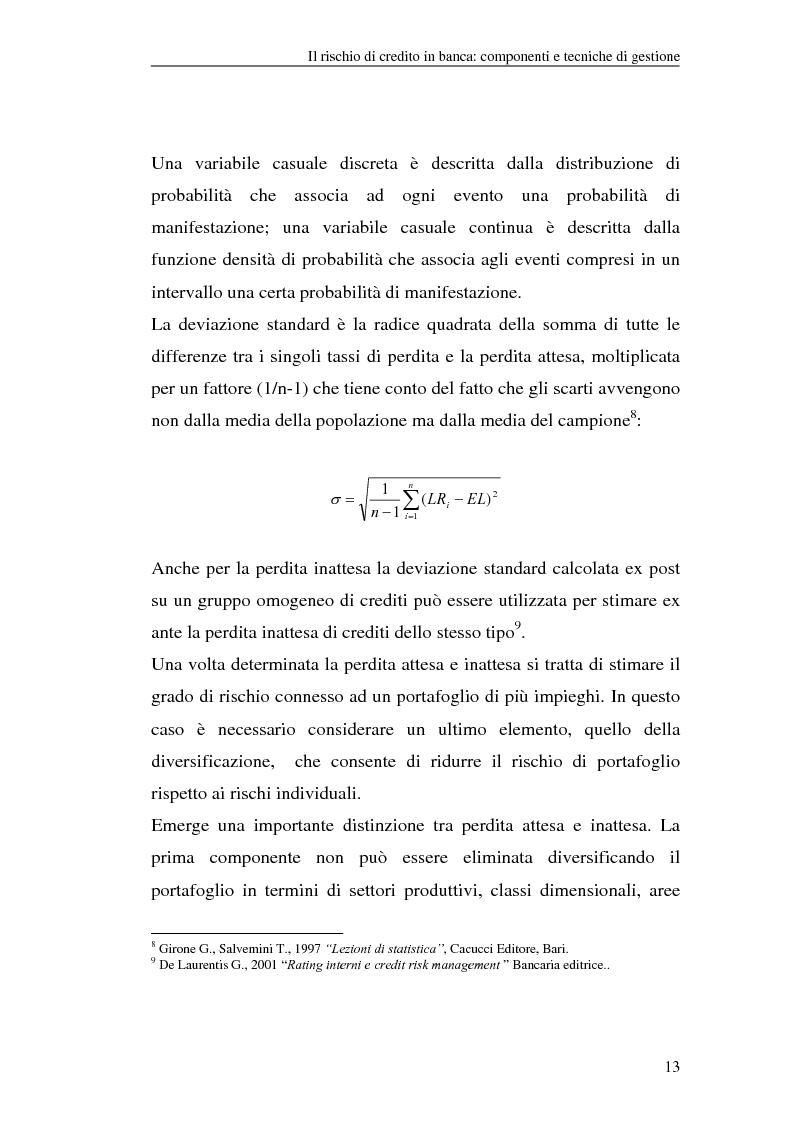 Anteprima della tesi: La gestione del rischio di credito nel Nuovo Accordo sul Capitale. L'impatto su alcuni archetipi finanziari, Pagina 13