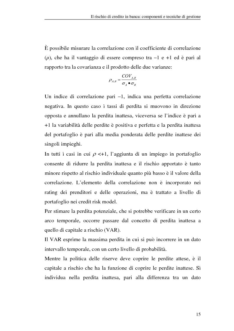 Anteprima della tesi: La gestione del rischio di credito nel Nuovo Accordo sul Capitale. L'impatto su alcuni archetipi finanziari, Pagina 15